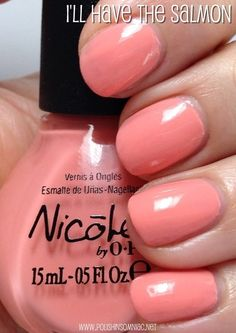Nicole by OPI I'll Have the Salmon probably for my fingers! Opi Nails, Nail Polishes, Manicure And Pedicure, Nail Polish Blog, Best Nail Polish, Pretty Nail Colors, Pretty Nails, Nicole By Opi, Beautiful Nail Designs