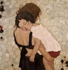 """""""Mother and Child"""" by Xi Pan in Siobhan Passmore's """"Prayers for the Living on the Day of the Dead"""".  http://luhambo.wordpress.com/2013/11/02/prayers-for-the-living-on-the-day-of-the-dead/"""