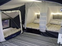 Sleeping for 6 people with 1 annex fitted - Camping Ideas Tent Camping Beds, Camping Glamping, Outdoor Camping, Best Tents For Camping, Camping Setup Ideas, Camping Hacks Tent, Camping Tent Decorations, Moab Camping, Camping Pantry