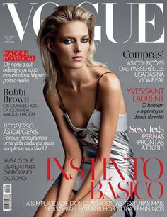 Anja Rubik for Vogue Portugal July 2014 Cover.