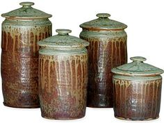 Nice Pottery Canister Set