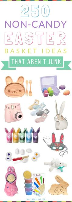 101 easter basket ideas for babies and toddlers that arent candy 250 non candy easter basket ideas for kids from babies to teens with no junky stuff negle Image collections