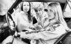 Janet Guthrie, Donna Mae Mims and Liane Engeman. Sebring 1969