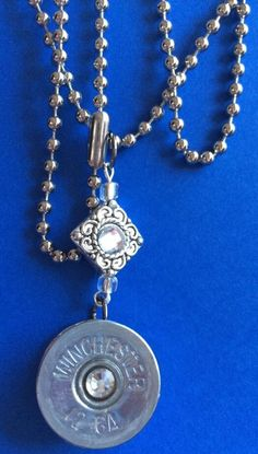Shotgun Winchester Shell Necklace w Crystals Double Sided Charm | eBay