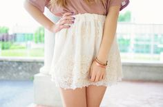 #skirt #lace #pretty