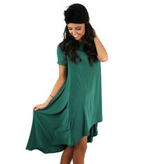 Prettier Everyday Dress Emerald | Impressions Online Women's Clothing Boutique