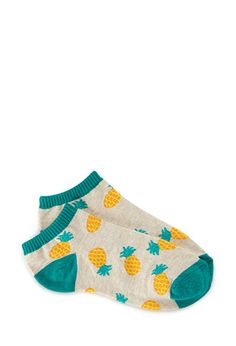 Pineapple Craze Ankle Socks | FOREVER21 - 2000065020 http://www.forever21.com/Product/Product.aspx?BR=f21Category=accProductID=2000065020VariantID=