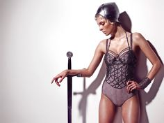 Marlies Dekkers Launches 'Joan of Arc' Influenced Couture Line of Lingerie // omg this geometric lingerie is killing me. men's underwear is so lame.