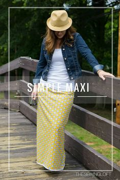 Simple Maxi Skirt DIY - The Sewing Loft