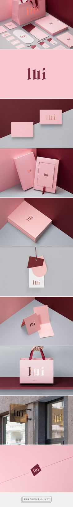 Lui Store Fashion Boutique Branding by Gustaw Dmoswski Web Design, Fashion Logo Design, Fashion Branding, Branding Agency, Business Branding, Business Card Design, Logo Inspiration, Packaging Design Inspiration, Collateral Design