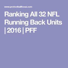 Ranking All 32 NFL Running Back Units | 2016 | PFF