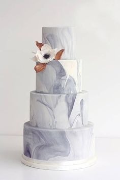 Love Marble Home Decor? You'll Swoon Over These Trendy Marbled Wedding Cakes