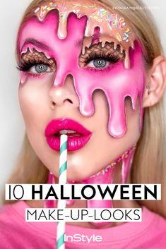 Cool Makeup Looks, Creative Makeup Looks, Crazy Makeup, Pretty Makeup, Halloween Look, Halloween Makeup, Happy Halloween, Make Up Looks, Clown Makeup