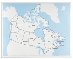 Puzzle map of North America standard size Products Maps and Puzzles