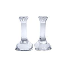 Image of Orrefors Crystal Candlesticks - A Pair