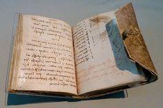 Leonardo da Vinci  mirror-image  code book, victoria and albert museum, london, england