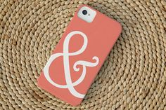 Ampersand iPhone Case in Coral by christinemarieb on Etsy, $37.50