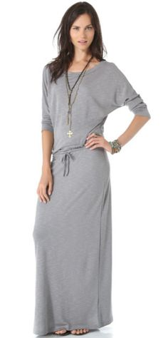 Grey- Relaxed Maxi Dress