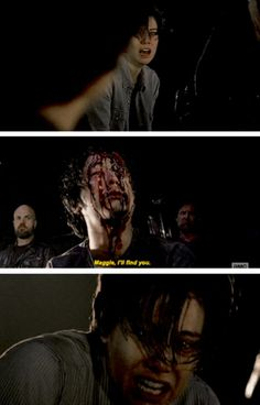 The Walking Dead Season 7 Ep. 1 'The Day Will Come When You Won't Be' Glenn and Maggie