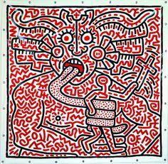 Keith Haring (Kutztown, 4 maggio 1958 – New York, 16 febbraio 1990) è stato un pittore e writer statunitense. È stato uno degli esponenti più singolari del graffitismo di frontiera, emergendo dalla scena artistica newyorkese durante il boom del mercato dell'arte degli anni ottanta insieme ad artisti come Jean-Michel Basquiat e Richard Hambleton: i suoi lavori hanno rappresentato la cultura di strada della New York di quel decennio.