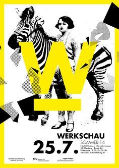 Werkschau Sommer 14 - Hochschule Offenburg - Lilly is Love Poster Design, Graphic Design Layouts, Graphic Design Posters, Graphic Design Typography, Graphic Design Inspiration, Flyer Design, Layout Design, Web Design, Design Art
