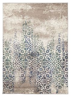 I absolutely love the distressed look of this Liwa Faded Ivory Blue Green Floral Motif Rug, and had to include it. I absolutely love the distressed look of this Liwa Faded Ivory Blue Green Floral Motif Rug, and had to include it. Tapete Floral, Floral Rug, Floral Motif, Muebles Shabby Chic, Tapis Design, Buy Rugs, Rug Material, Carpet Design, Modern Rugs