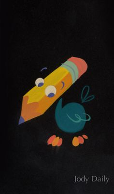The pencil bird from Alice in Wonderland. Posted on miehana.blogspot.com (image credit Jody) by Kevin Kidney.