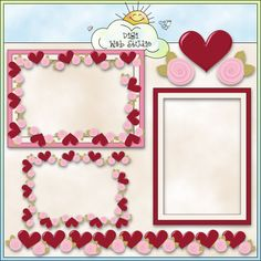 My Valentine Frames 2 - Non-Exclusive Trina Clark Clip Art : Digi Web Studio, Clip Art, Printable Crafts & Digital Scrapbooking!