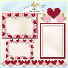 My Valentine Frames 2 - Non-Exclusive Trina Clark Clip Art : Digi Web Studio, Clip Art, Printable Crafts & Digital Scrapbooking!
