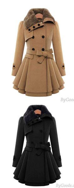 Cheap Women 's Woolen Coat Thicker Coat Double - Breasted Windbreaker Winter Dress For Big Sale!Women 's Woolen Coat Thicker Coat Double - Breasted Windbreaker Winter Dress Trench Coat Outfit, Trench Coats, Women's Coats, Camel Coat, Vintage Coat, Winter Coats Women, Dress Coats For Women, Sweater Outfits, Fashion Coat