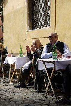 Trattoria da Lucia, Vicolo del Mattonato, 2b, 00153 Rome, Italy. A wonderful place for a trasteverian lunch