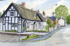 Trinity Cottage, Haslington, Cheshire.A  watercolour by Sylvia Twiss