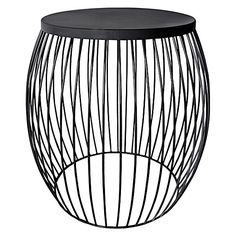 Frame your space with art deco-inspired design with the luxe metallics of the practical Miami Black Side Table from j.elliot HOME.