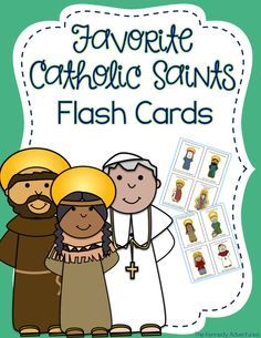 Teach children about our favorite Catholic saints with these fun flash cards. Perfect for Catholic families, teachers and religious education…