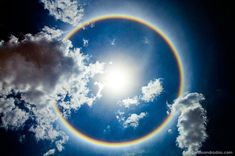 Rainbow Halo in Brasilia, Brazil.  Halo d'arc en ciel à Brasilia, Brésil.