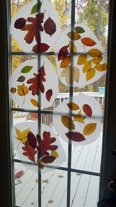 Fall leaf craft ... Do this but in the shape of a leaf maybe? Laminate?