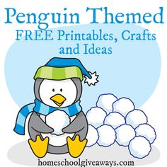 FREE Penguin Printables, Crafts and Ideas | Free Homeschool Deals ©