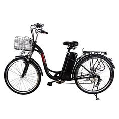 Product review for Nakto-Spark 6-Speed E-Bike 36V Cruiser With 36V Lithium Battery - Custom design step through frame (Non gender specific) electric commuter-Cargo bicycle. 250-Watt brushless power hub with a 36V 10ah removable battery pack. Lithium Ion battery for long lasting charge. 6-Speed shimano easy shift gear system with UL approved battery. US Warehouse for fast...