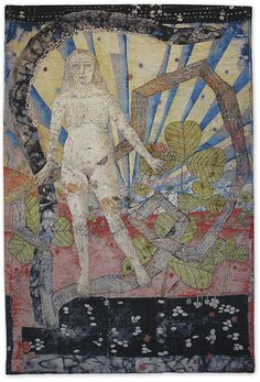 """Kiki Smith / Earth, Jacquard tapestry, 113 x 75 in. Edition of 10 """"Kiki Smith - Earth, Jacquard tapestry, 113 x 75 in. Edition of Kiki Smith, Collages, Ouvrages D'art, Art Graphique, Figure Painting, Oeuvre D'art, Textile Art, Fiber Art, Les Oeuvres"""