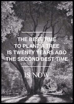I don't know who said this, but I like the idea it holds - that it's not too late to start something.