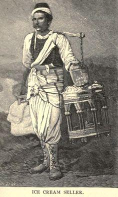 Osmanlı dönemi dondurma satıcısı - Ice cream seller, Ottoman empire.