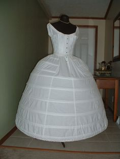 1860 Guerra Civil aro falda