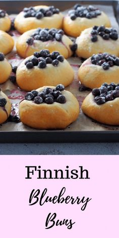 will love the fresh and bright flavor of these Finnish Blueberry Buns warm from the oven. Juicy and sweet berries nestled on soft bread these are pure comfort with your cup of coffee! Finnish Recipes, Breakfast Recipes, Dessert Recipes, Scandinavian Food, Blueberry Recipes, Sweet Bread, The Fresh, Baking Recipes, Muffins
