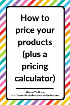 how to price products pricing calculator template google sheets excel etsy seller tool resource business handmade creative Etsy Business, Craft Business, Online Business, Creative Business, Starting A Business, Business Planning, Business Tips, Business Labels, Business Management