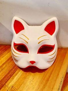 Anime Mascaras, Mascara Anime, Anime Diys, Anime Crafts, Otaku Anime, Anime Naruto, Japanese Fox Mask, Anime Halloween, Halloween Face Makeup
