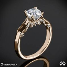This Solitaire Engagement Ring is from the Verragio Insignia Collection.