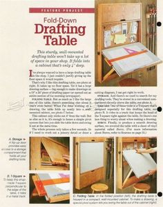 #373 Fold-Down Drafting Table Plans - Workshop Solutions Plans, Tips and Tricks