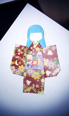 Origami Kimono Bookmark: The Sequel #howto #tutorial