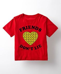 2afcbe4633589 Red  Friends Don t Lie  Waffle Tee - Toddler   Kids
