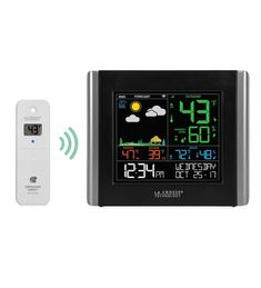 This Wireless WIFI Essential Weather Station from La Crosse® has everything you need for local weather forecasting and monitoring. The remote sensor prov… Weather Center, Weather Data, Lightning Detector, Weather Predictions, Weather Instruments, Wifi Connect, Whitehall Products